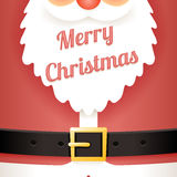 Beard Text Santa Claus Belt Greating Card Template Cartoon Design Vector Illustration Royalty Free Stock Images