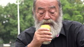 Bearded Alcoholic Old Man. Stock video of alcoholic old man stock video footage