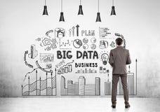 Bearded businessman, big data Royalty Free Stock Photo
