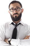 Bearded Businessman Royalty Free Stock Images