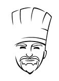 Bearded chef with a toque Royalty Free Stock Image