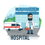 The bearded doctor Stock Image