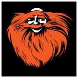 Bearded face. Cartoone style of bearded face Royalty Free Stock Photos
