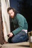 Bearded Graffiti Artist Royalty Free Stock Images
