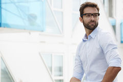 Bearded guy in glasses Royalty Free Stock Photos