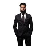 Bearded handsome man wearing suit Royalty Free Stock Image