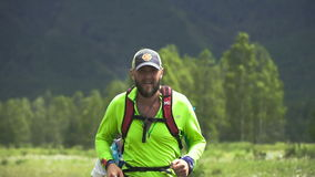 Bearded Male Runner.