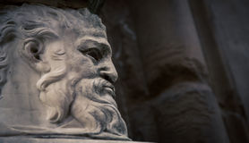Bearded male statue. In city of Florence Italy Stock Image