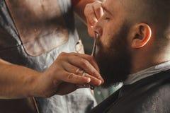 Bearded Man In Barbershop stock image