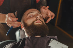 Bearded Man In Barbershop royalty free stock photography