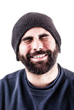 Bearded man cheering Royalty Free Stock Photography