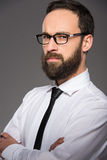 Bearded man Stock Image