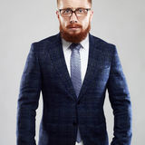 Bearded man in glasses.Old Hipster boy.handsome man professor. Fashion portrait of bearded man in glasses.Old Hipster boy.handsome man professor Royalty Free Stock Image