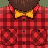 Bearded Man illustration Stock Photography