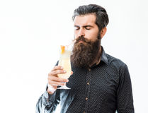Bearded man with nonalcoholic cocktail Stock Photo
