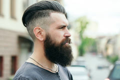 Bearded man outdoor Royalty Free Stock Images