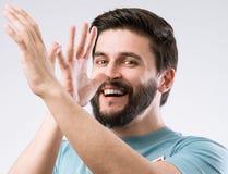 Bearded man portrait Royalty Free Stock Image