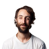 Bearded man smiling Stock Photos