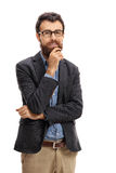 Bearded man smiling and looking at the camera Royalty Free Stock Photo