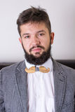 Bearded man in a suit Royalty Free Stock Photos