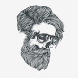 Bearded man. Vector illustration Royalty Free Stock Image