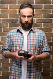 Bearded man Stock Images