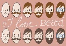 Bearded men Royalty Free Stock Photos