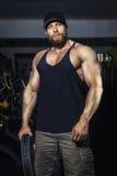 Bearded muscular man Stock Photo
