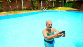 Old man swimming pool stock footage videos 132 stock for Pool man show