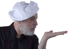 Bearded senior man cook Royalty Free Stock Photo