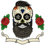 Bearded skull Royalty Free Stock Images