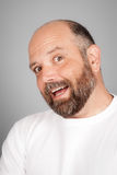 Bearded smiling man Stock Photos