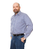 Bearded smiling man Stock Photography