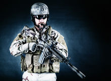 Bearded special forces soldier Royalty Free Stock Photography