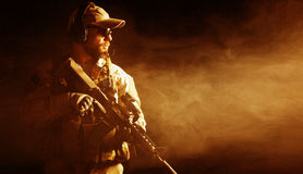 Bearded special forces soldier Royalty Free Stock Photos