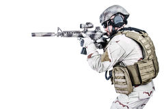 Bearded special warfare operator Royalty Free Stock Photography