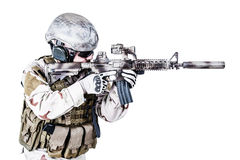 Bearded special warfare operator Royalty Free Stock Images