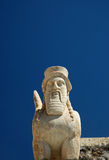 Bearded sphinxs. Ancient bearded sphinx in Bodrum, Turkey Royalty Free Stock Photos