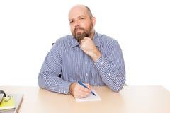 Bearded thinking man Stock Images