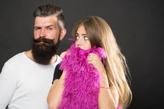 Bearded young couple Stock Photos
