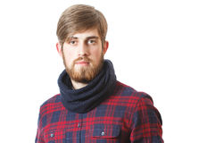 Bearded young hipster royalty free stock photo