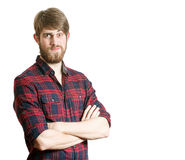 Bearded young man royalty free stock images