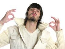 beardman δροσερά δάχτυλα Στοκ φωτογραφία με δικαίωμα ελεύθερης χρήσης