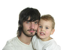 Beardman con il bambino Immagini Stock