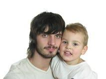Beardman with kid Stock Images