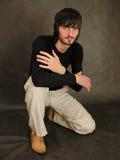 Beardman sit Royalty Free Stock Image