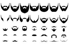 Beards big collection Royalty Free Stock Images