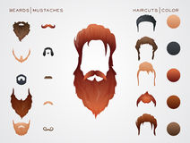 Beards and Mustaches, Hairstyles constructor Stock Photo