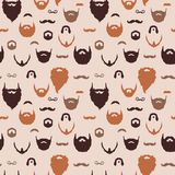 Beards and Mustaches pattern Royalty Free Stock Photography