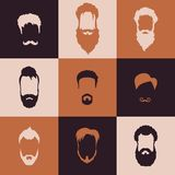 Beards set Stock Photography